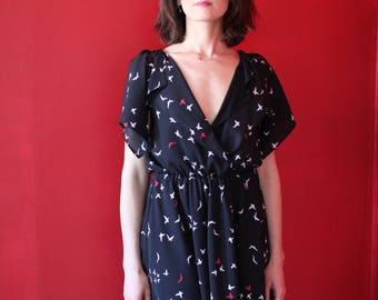 MOTYL black bird dress