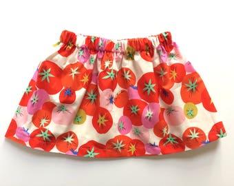 CREOLE TOMATO // tomato skirt // alexander henry // baby and toddler skirt