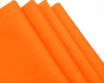 Napkins Orange Cotton Set of 4