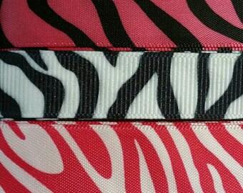 Pink Zebra Ribbon Mix