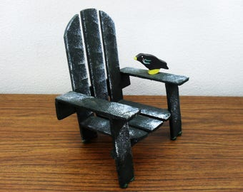 Vintage Adirondack Chair Cell Phone Stand Holder Doll Chair Home Decor.
