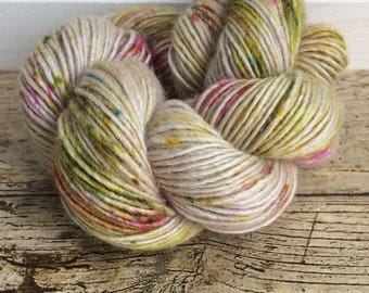 Hand Dyed, Speckled Yarn, DK, Indie Dyer, Multicoloured, ilovepinkgeraniums, Country Bumpkin