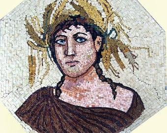 Roman Goddess of Youth Mosaic