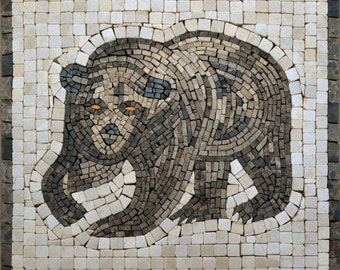 Mosaic Designs - Brown Illustrated Bear