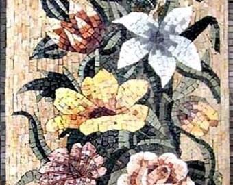 The vase of Gerberas Floral Mosaic