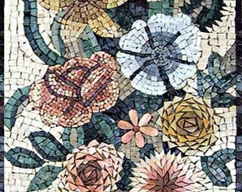 Black Eyed Susan Flower Mosaic