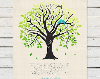 THANK YOU GIFT for Brides Mother, Wedding Thank You for In Laws, Gift for Brides Mother, Wedding Tree Gift Print Brides Mother