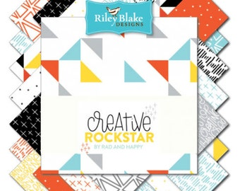 Creative Rockstar Fat Quarter Bundle by Riley Blake Designs