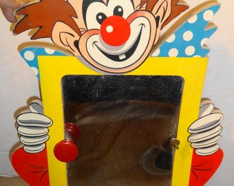 1962 Clown Mirror Clothes hanger.