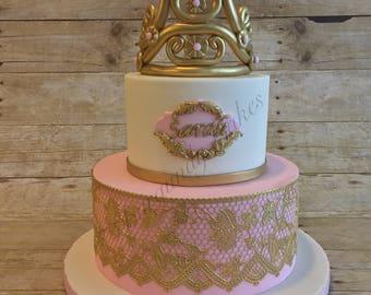 2 Tier Princess Fake Cake with Fondant/Dummy Fondant Cake