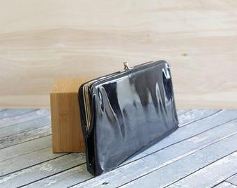 Vintage Patent Leather Clutch Purse