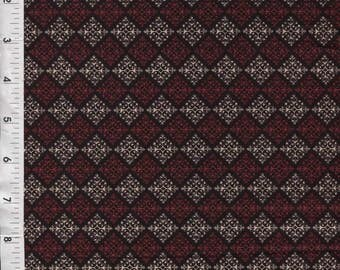 """Red Rooster """"Belle Notte""""  Red/Black Geo Diamond Fabric"""