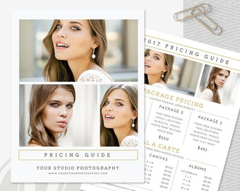 Photo Price List - Photography Pricing Template, Price Guide List for Photographers, Photography Pricing Guide, Photo Price Guide