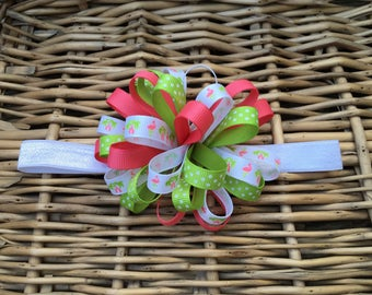Flamingo headband, infant headband, toddler headband