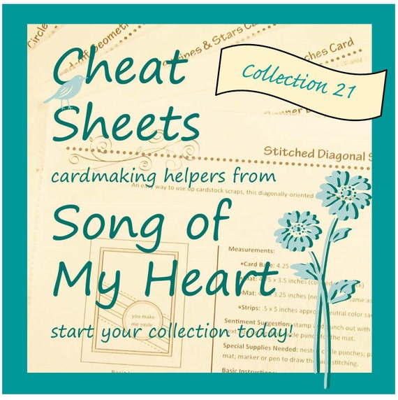 Cheat Sheets #21 Collection: Instant Digital Download cardmaking helpers for crafters and stampers