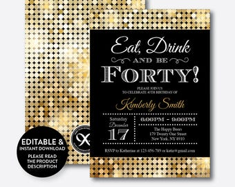 Drinking Invitation Etsy - Editable birthday invitations for adults