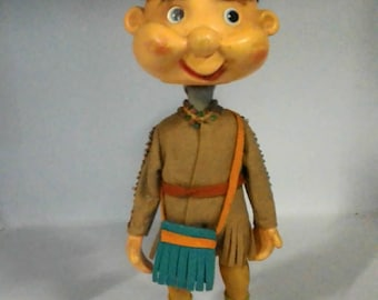 Dawid Crockett vintage toy-toy years 60/70-game head-rocking toys-game collection collectibles