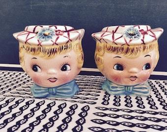 Reserved For Britney   Vintage Lefton Little Miss Dainty Salt  and Pepper Shakers