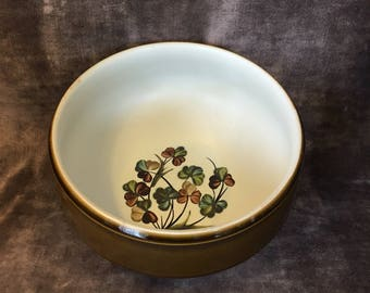 Denby of England Shamrock pattern serving bowl
