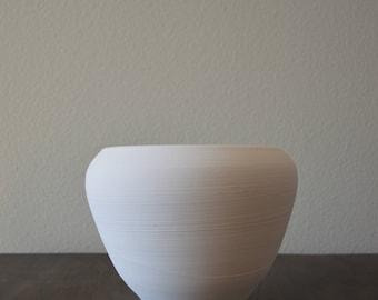 Handmade Natural Large Artisian White Pot Planter