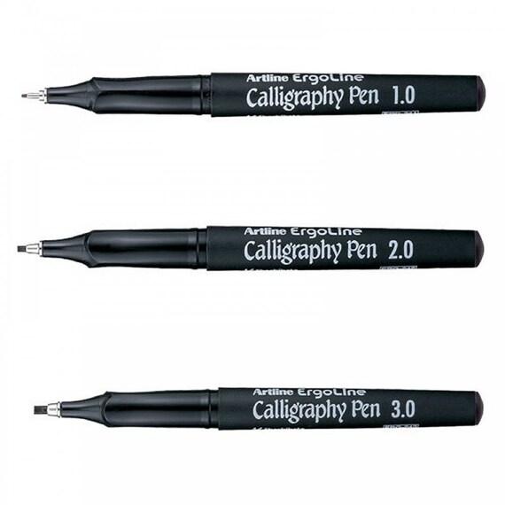 3 X Artline Calligraphy Pen Set Ergoline