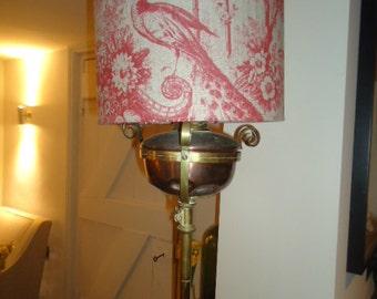 Antique brass adjustable standard lamp for rewiring