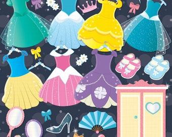 Princess Clipart, Costume party, Princess costumes, Princess dresses - PART 1