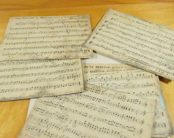 Military Music Sheets by W R Heymann   , Ephemera paper , Scrapbooking