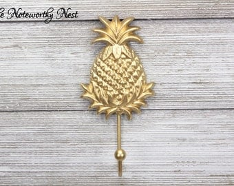 CUSTOM COLOR HOOKS // kitchen hooks // pineapple hooks // pineapple decor // kitchen decor // fruit decor // towel hook //