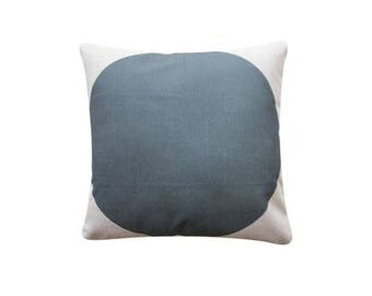 "Charcoal Dot Pillow Cover, 22"" x 22"" Decorative Pillow Case, Scandinavian Cushion, Minimalist Throw Cushion Cover #196"