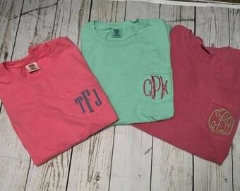 Comfort Color Short Sleeve Monogram Pocket Shirt Secret Sale