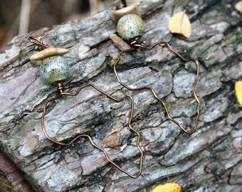 Africa Earrings- Neutral Stone