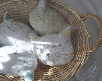 cushion cat / Bernie cat / decorative cushion / pillow cat-shaped / child cushion