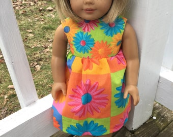 Flower sundress for an American Girl Doll