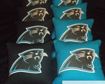 NFL Carolina Panthers Cornhole Bags Hand Made Ships within 1- 2 Business Days