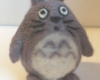Totoro - cute needlefelted sculpture in wool
