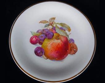 Schwarzenhammer Porcelain Fruit Plate Bavaria with Apple and cherries