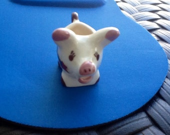Porcelain Pig Single Creamer. Trinket Holder. Great conversation piece. Adorable Pig Creamer.