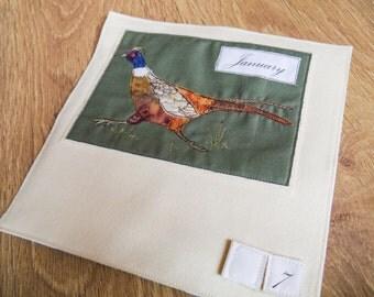 Printed Fabric calendar pattern