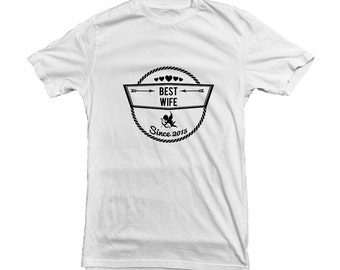 Best Wife T-shirt for Valentine's Day Gift Present - customisation available