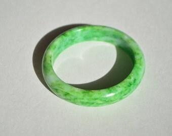 Vintage Genuine Green Jade Jadeite Bangle Bracelet