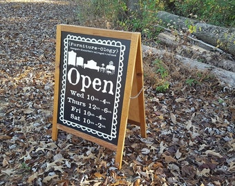 Custom Chalkboard Signs, Sidewalk Business Signs, Sidewalk Signs, Hand Painted Signs, Custom Painted Signs, Chalkboard Sign, Business Signs