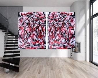 Modern abstract artwork in XXL by Alexander Zerr acrylic on canvas 200x300cm #193