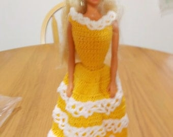 Crochet Fashion Doll Barbie Outfit -AUTUMN #2-Doll included