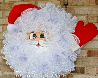 Wooden Santa Face Etsy