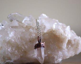 Lemurian Quartz | Lemurian Quartz Necklace | Sterling Silver Chain | Ready-To-Ship