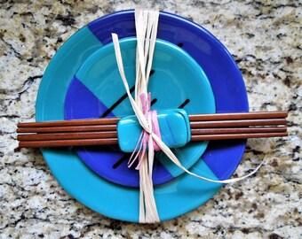 4 piece round sushi set