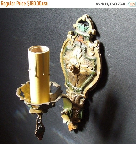 Vintage Wall Sconces Electric: Antique Vintage Revival Electric Wall Sconce By