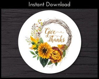 Thanksgiving Favor Tags, Thanksgiving Gift Tags, Fall Gift Tags, Thanksgiving Gift Ideas, Thanksgiving Gift, Instant Download