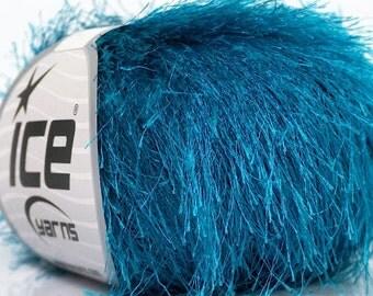 400 gr Eyelash Yarn, Turquoise Bulky Yarn, Chunky Knitting Yarn, Novelty Craft Yarn, Polyester Yarn , Art Yarn, Yarn Lot